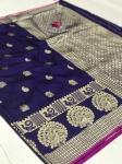 Banarasi Silk Golden Zari Weaving Saree