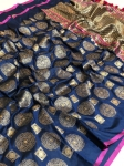 Banarasi Silk Royal crafted Tussle Saree