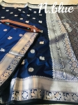 Lichi Soft Silk With Weaving Silver Zari Saree