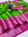 Heavy Kashmira Rich Cotton Silk Saree (8 Pcs Set)