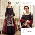 Shree Fabs S-265 Georgette Pakistani Black Suit