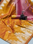 Ikkat Silk Rich Pallu Weaving Border Saree