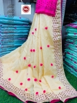 Pure Kashmiri Silk With Pom Pom In Pallu 2 Saree