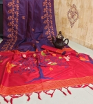 Soft Handloom Raw Silk Saree With Rich Elegant Pallu