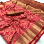 Heavy Patola  Silk Weaving Jequard  Saree (9 Pc Set)