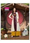 Diya Trendz Globus City Vol 3 Shrug  Kurti Palazzo (6 Pc Set)
