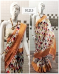 Handloom Linen Saree With Pure Digital Printed