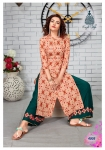 Kajal Style Fashion Label Vol 4 Kurti With Bottom(12 Pc Set)