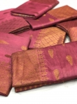 Soft Cotton Silk Sarees With Jacquard Weaving (4 Pc Set)
