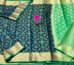 Banarasi Handloom Weaving Patola SilK Saree (6 Pcs Set)