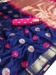 Beatiful Soft And Silky Litchi Silk Saree (8 Pcs Set)