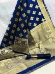 Banarasi Handloom Weaving Silk Designer Saree (7 Pcs Set)