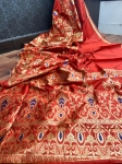 Banarasi Soft Silk With Meena Weaving Saree (6 Pcs Set)