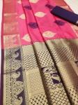 Banasari Handloom Weaving Silk Ganga Jamna Buttas Saree