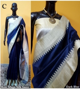 Raw Munga Silk Saree Wholesale (6pc Set)