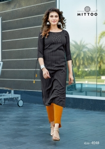 Mittoo Mohini Vol 4 Kurti With Pent Collection (6 Pcs Set)