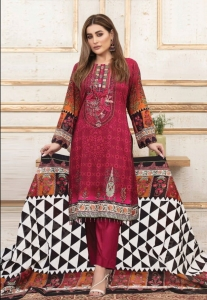 Iris Vol 7 Printed Cotton Pakistani Salwar Kameez (10 Pcs Set)