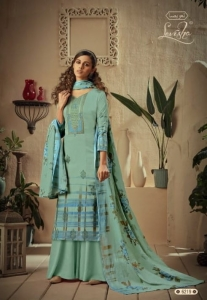 Levisha Firdosh Pure Jam Cotton Designer Suit (8 Pcs Set)
