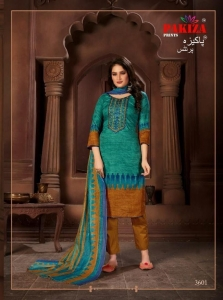 Pakiza Prints Vol 36 Kashmiri Embroidery Suit Collection (10 Pcs Set)