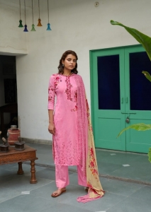 Belliza Designer Studio Ehsaas Pure Jam Cotton Suit (10 Pcs Set)