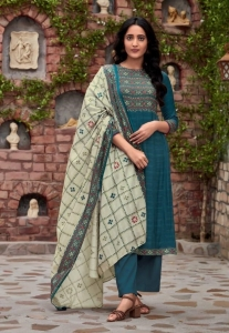 S Nirukth Gulzaar Cotton Satin Print Suit (8 Pcs Set)