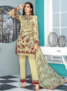 Rinaz Fashion Maryam's Gold Vol 8 Georgette Pakistani Suit (7 Pcs Set)