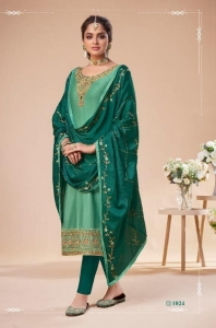 Gulkayra Designer Rehana Jam Silk Heavy Embroidery Suit (6 Pcs Set)