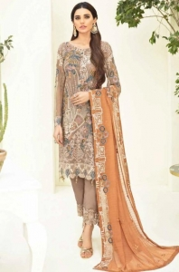 Rinaz Fashion Ramsha Vol 5 Fox Georgette Pakistani Suit (5 Pcs Set)