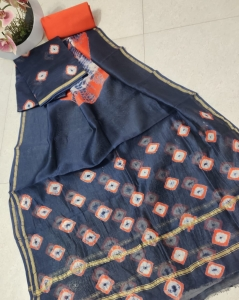 Pure Chanderi silk suits with chanderi Dupatta