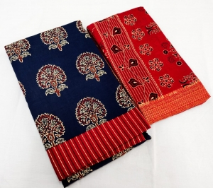 Pure Cotton Designer Kalamkari Printed Suit (4 Pcs Set)