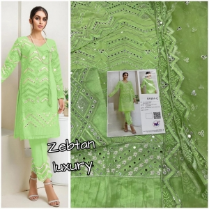 M3 Fashion Zebtan Luxury 51001 Fox Georgette Suit (3 Pcs Set)