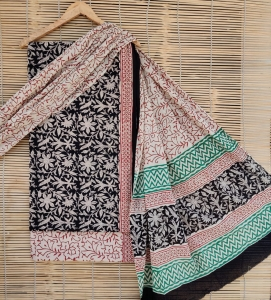 Bagru Hand Block Printed Cotton Beautiful Suit (24 Pcs Set)