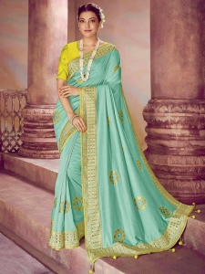 Dolla Silk Heavy Embroidery Work Saree