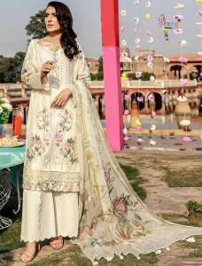 Shree Fabs Adan Libaas Schiffli Collection Vol 3 Pakistani Suit (6 Pcs Set)