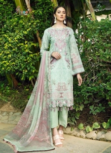 Shree Fabs Zarkash Luxury Lawn Collection Vol 2 Pakistani Suit (8 Pcs Set)