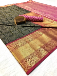 Kanchipuram Handloom Weaving Silk Saree Collection (5 Pcs Set)
