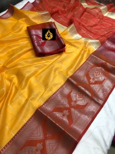 Chanderi Cotton silk with jacquard weaving Border Saree