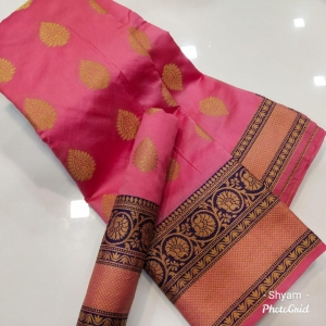 Lichi Silk Weaving Saree With Running Blouse (10 Pc Set)