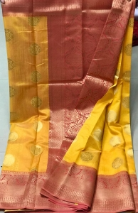 Beautiful Soft Crystal Silk Cloth Jacquard Work Saree (9 Pcs Set)