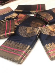 Traditional Soft Silk Designer Saree (5 Pc Set)