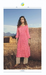 Vinay Tumbaa Aqua Rayon Club Kurti Cotton Pent Collection