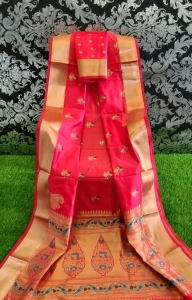 Beautiful Soft And Lichi Silk Fancy Saree (6 Pcs Set)