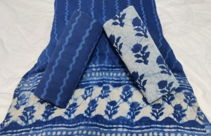 Bagru Hand Block Printed Cotton Beautiful Dress Material (12 Pcs Set)