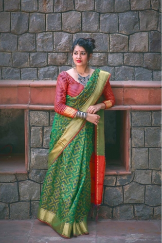 Banarasi Soft Patola Silk Saree With Contrast Pallu Wholesale Online Supplier (1).jpeg